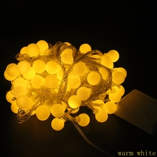 10/20/30/50m 100/200LED String Ball New year Christmas Fairy Light Indoor Outdoor Garland Party Wedding Holiday decorate  Lights