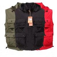 2018 Men's vest summer vest Male Vest Outdoors Casual Multi Pocket Cotton Mesh Vest Waistcoat Photography Waist coat
