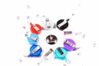 12Pcs Lot I Love MURSING Retractable ID Card Badge Holder Reel Pull Key Name Tag Card