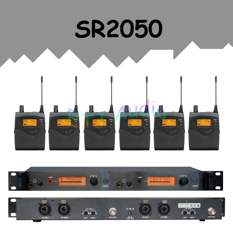 In Ear Monitor Wireless System  Professional for Stage Performance SR2050 IEM With 6 Receiver wireless pager system 433 92mhz wireless restaurant table buzzer with monitor and watch receiver 3 display 42 call button