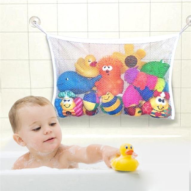 Attirant New Folding Baby Bathroom Hanging Mesh Bath Toy Storage Bag Net Suction Cup  Baskets Shower Toy