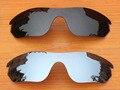 Черный и Серебристый Хром 2 Шт. Поляризованных Сменные Линзы Для RadarLock Край Солнцезащитные Очки Рама 100% UVA и UVB Защиты