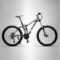 LAUXJACK Bicycle Aluminum Alloy Soft Trailer 24 27 Quick Down Mountain Bike Double Oil Disc Shock