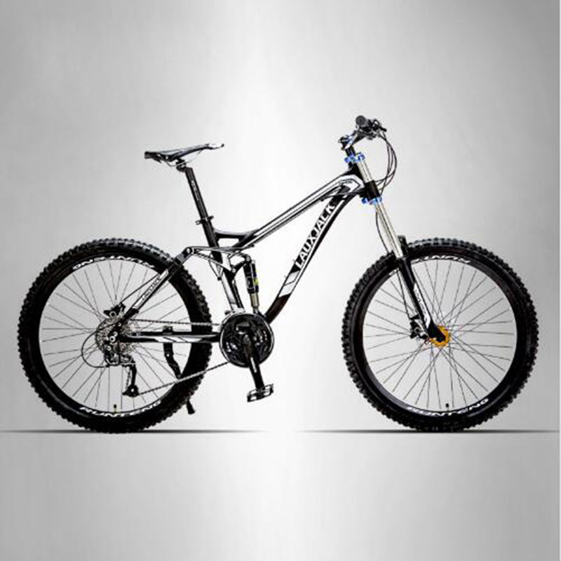 LAUXJACK Mountain Bike Full Suspension Aluminum Frame 24/27 Speed Hydraulic/Mechanic Brake 26 Wheel lauxjack mountain bike steel frame 24 speed shimano 26 wheel