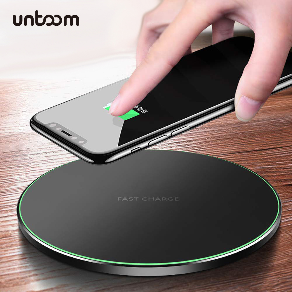 10W Qi Wireless <font><b>Charger</b></font> for iPhone Xs Xs Max Xr X 8 8 Plus Fast Wireless Charging Pad for Samsung <font><b>Galaxy</b></font> S10 <font><b>S9</b></font> S8 S7 Note 9 8 7 image