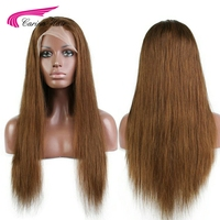 Carina Brazilian Straight Hair Lace Front Wigs with Baby Hair Remy Human Hair Wigs Pre plucked Natural Hairline Glueless Wig