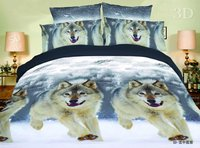 Bed Cover 3d Tiger Wolf Eiffel Tower Rose Bedding Sets Home Textiles 4pc Bed Sheet Duvet
