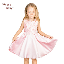 Lace Summer Spring Vest Dresses For Girls Dress Kids Party Princess Christmas Costumes For Girl Robe Fille Children Ball Vestido