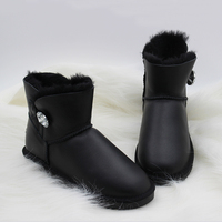 Wholesale Retail Australia Style Classic Waterproof Genuine Sheepskin Leather Snow Boots Warm Shoes For Women Free