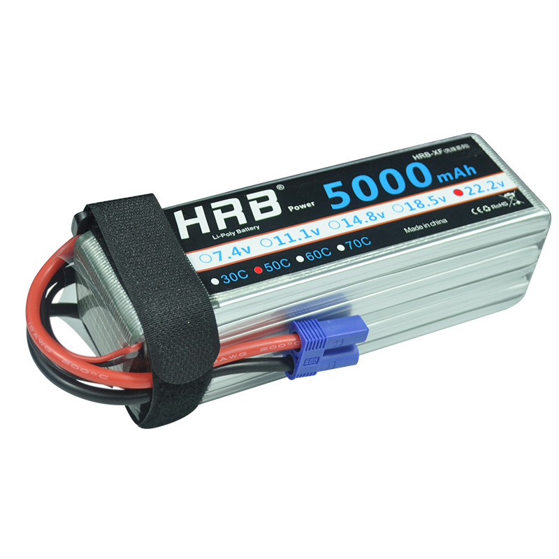HRB 6S 22.2V 5000mAh 50C Lipo Battery XT90 EC5 XT60 T Deans Connectors RC Cars Boats Quadcopter Airplane Multicopter Truck Parts image