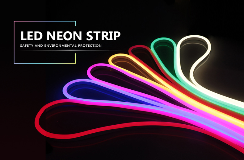 220V Neon Light Strip Flexible Outdoor Christmas Holiday Fairy LED Strip Rope Tube SMD 2835 120LEDs/M Strip Lamp With EU Power