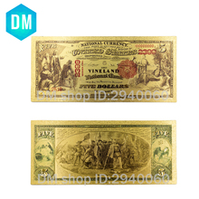 Collectible American Gold Banknote 1875 Year One Dollar Gold Plated World Paper Money Quality Art Crafts Golden Bill Note 10pcs