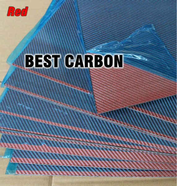 Free shipping 400mm x 500mm Red color Carbon Fiber Plate, cf plate , carbon sheet ,carbon panel 2 5mm x 500mm x 500mm 100% carbon fiber plate carbon fiber sheet carbon fiber panel matte surface