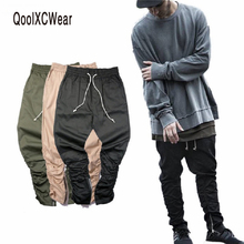 QoolXCWear Justin bieber side zipper slim fit casual mens hip hop jogger biker skinny