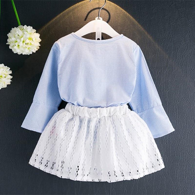 New Style Girl Clothes Set Lato z długim rękawem T-shirt z - Ubrania dziecięce - Zdjęcie 2