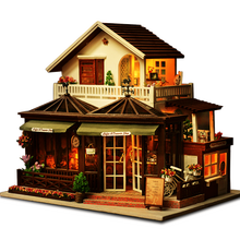 CUTE ROOM Large Coffee Doll House Manual Assembling Wooden