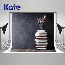 Kate Back To School Season Photography Backgrounds Crayon Color Painting Books Photo Background Newborn Original Backdrops