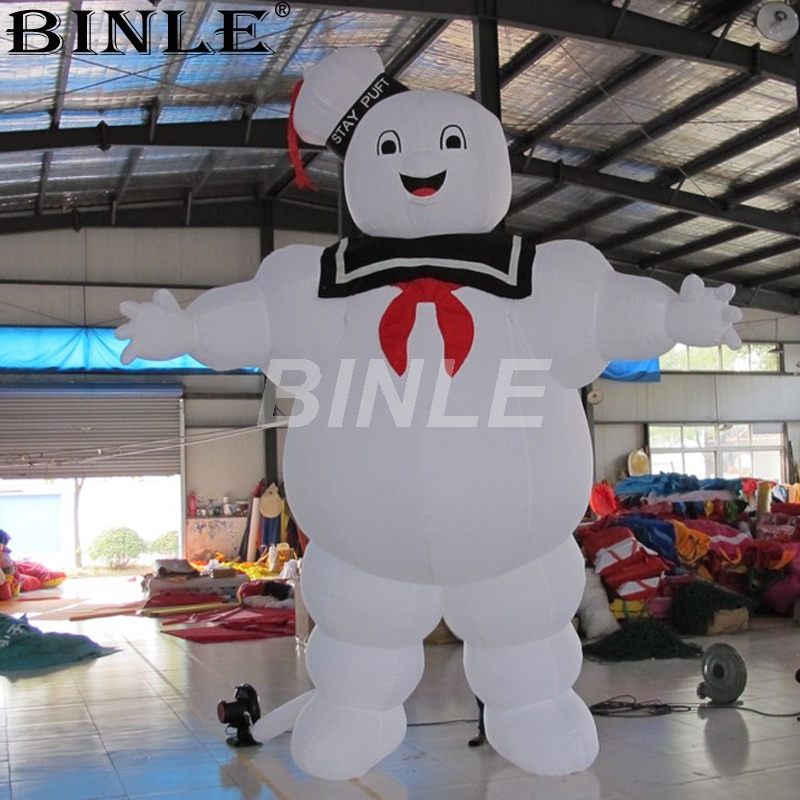 Us 480 0 Cheap Price 4m 13fth Giant Halloween Inflatable Ghostbusters Outdoor Advertising Inflatable Marshmallow Man With Air Blower In Party Diy