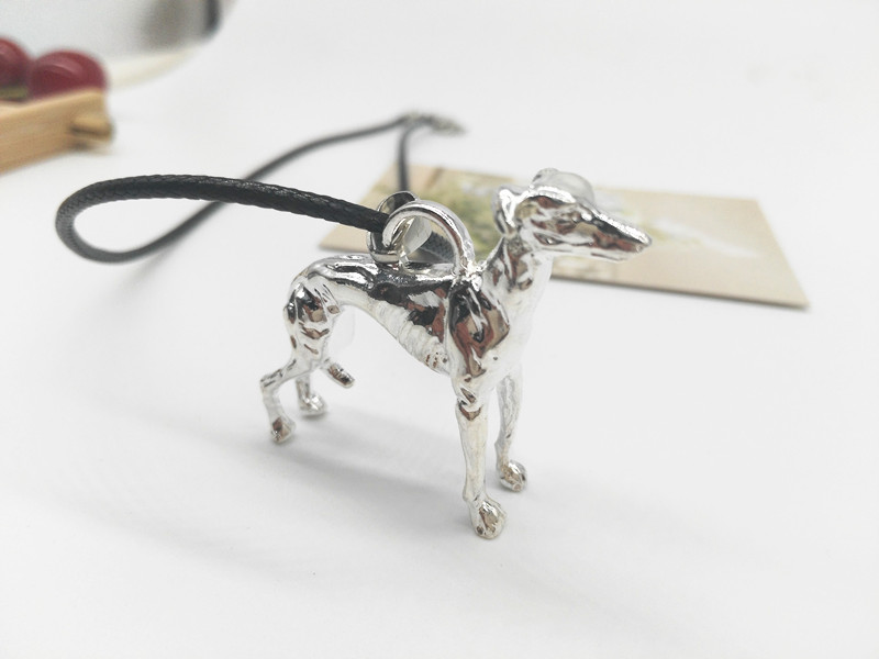 10pcs New Gold Choker Necklace Women 3D Greyhound Animal Necklace Windhund Halsband 40*45MM