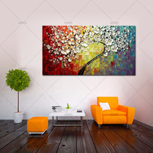 pop art 100% Hand Painted knife flower Oil Painting on Canvas landscape picture Wall Picture for Living Room home decorative