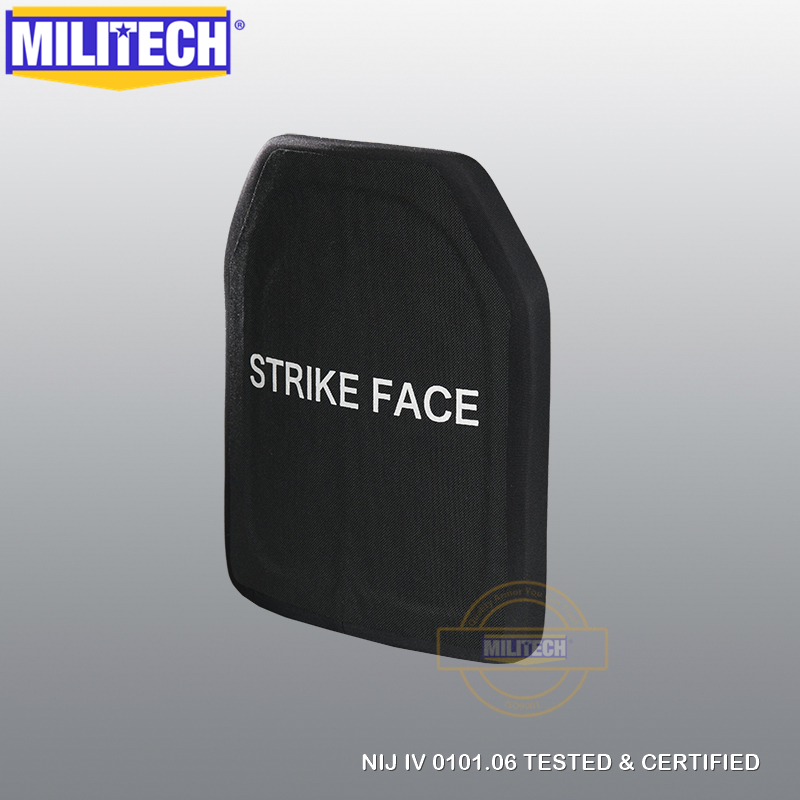 MILITECH SIC & PE NIJ IV Bulletproof Plate/ NIJ IV Stand Alone Ballistic Panel/  NIJ Level 4 Composite Armor AK47 & SS109 & M80