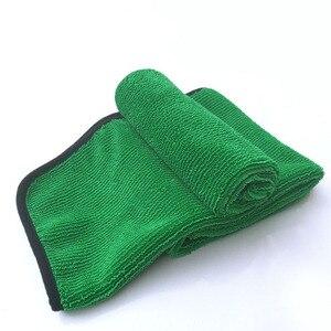 Image 2 - منشفة تنظيف السيارة من الألياف الدقيقة بلون أخضر 1psc 40*60 ، أداة تنظيف السيارة ، قماش جاف للعناية بالسيارة ، مناشف من الشمع غير قابلة للخدش