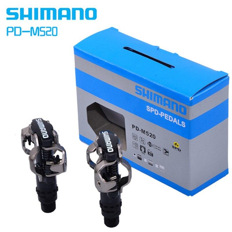 Shimano pédale PD-M520 auto-bloquant clic SPD vélo pédale M520 vtt montagne vélo Padals avec Original PD22 taquets
