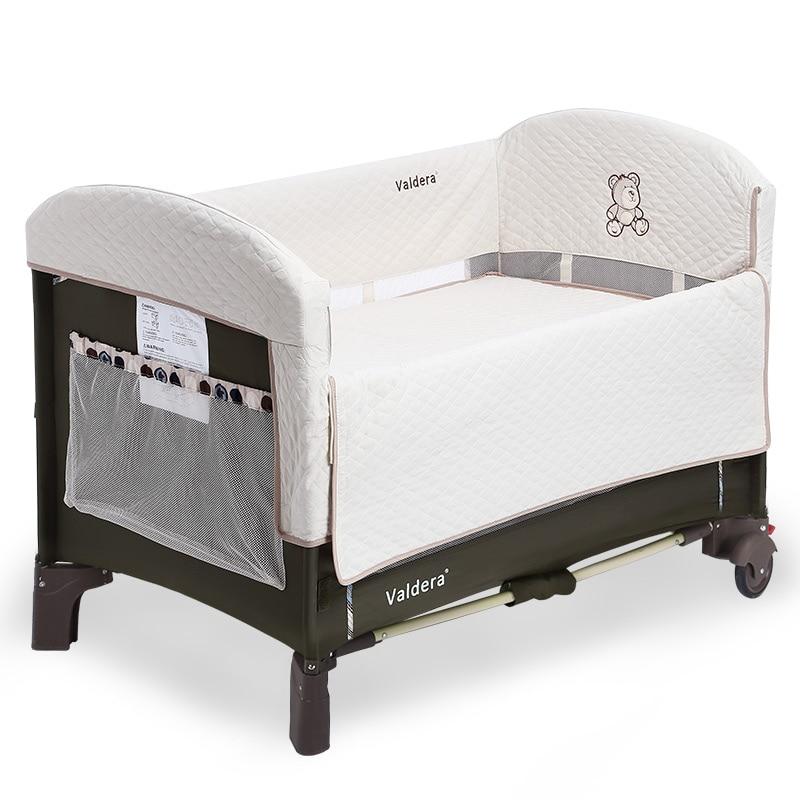 все цены на Valdera baby bed folding portable multifunctional game bed cradle bed concentretor