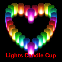 #C LED Candle Color Changing Wedding Party Xmas Decor light Flameless Lights Cup