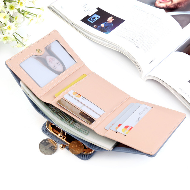 Wallet Women 2019 Lady Short Women Wallets Crown Decorated Mini Money Purses Small Fold PU Leather Female Coin Purse Card Holder