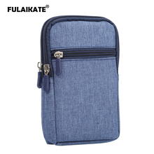 FULAIKATE 6.3 Denim Pocket Universal Waist Bag for iPhone6s Plus Holster Case Samsung Galaxy S7 S6 Edge Note5 Pouch