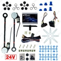 DC24V Universal Car/Truck 2-Doors Electric Power Window Kits 3pcs/Set Switches and Harness #J-4422