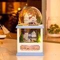 Новое Поступление Hoomeda MC001 Северная Европа DIY Кукольный Домик Комплект Модель Со СВЕТОДИОДНОЙ Подсветкой Музыка Деревянный Декор Коллекция Подарок Детям
