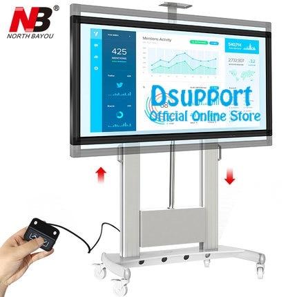 NB TW100 Motorized Lift Screen Heavy Duty TV Mount Cart Fits Most 60-100 inch Flat Panel LED LCD TV Loading 134kgs 300lb