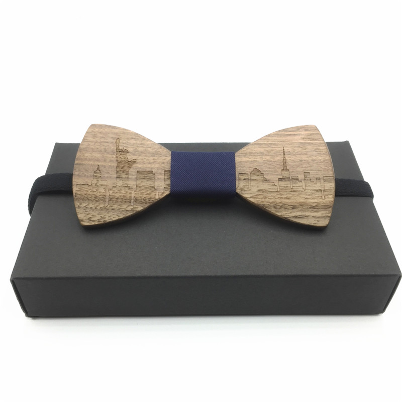 Gravata New Design Mens Pocket Square Bow Tie Set Wood Tie Gravatas Bowties Wedding Business Butterf Wooden Bow Ties Hankies
