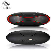 TTLIFE Portable Rugby Shape Bluetooth Speaker Wireless Sports FM Radio Mini Waterproof Speaker with Mic for Family Party