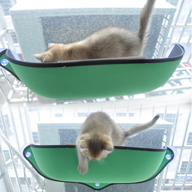 Pet Cat Windowsill Sucker Bed Hammock Nest Sofa Mat Cat Lounger Perch  Cushion Hanging Shelf For