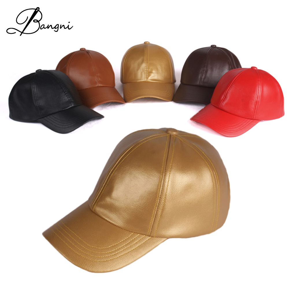 2017 Winter New Mens Faux Leather Baseball Cap Women Snapback PU Gorras Trucker  Hats Outdoor Sport Golf Polo Hat Hip Hop Cap b86d1229795f