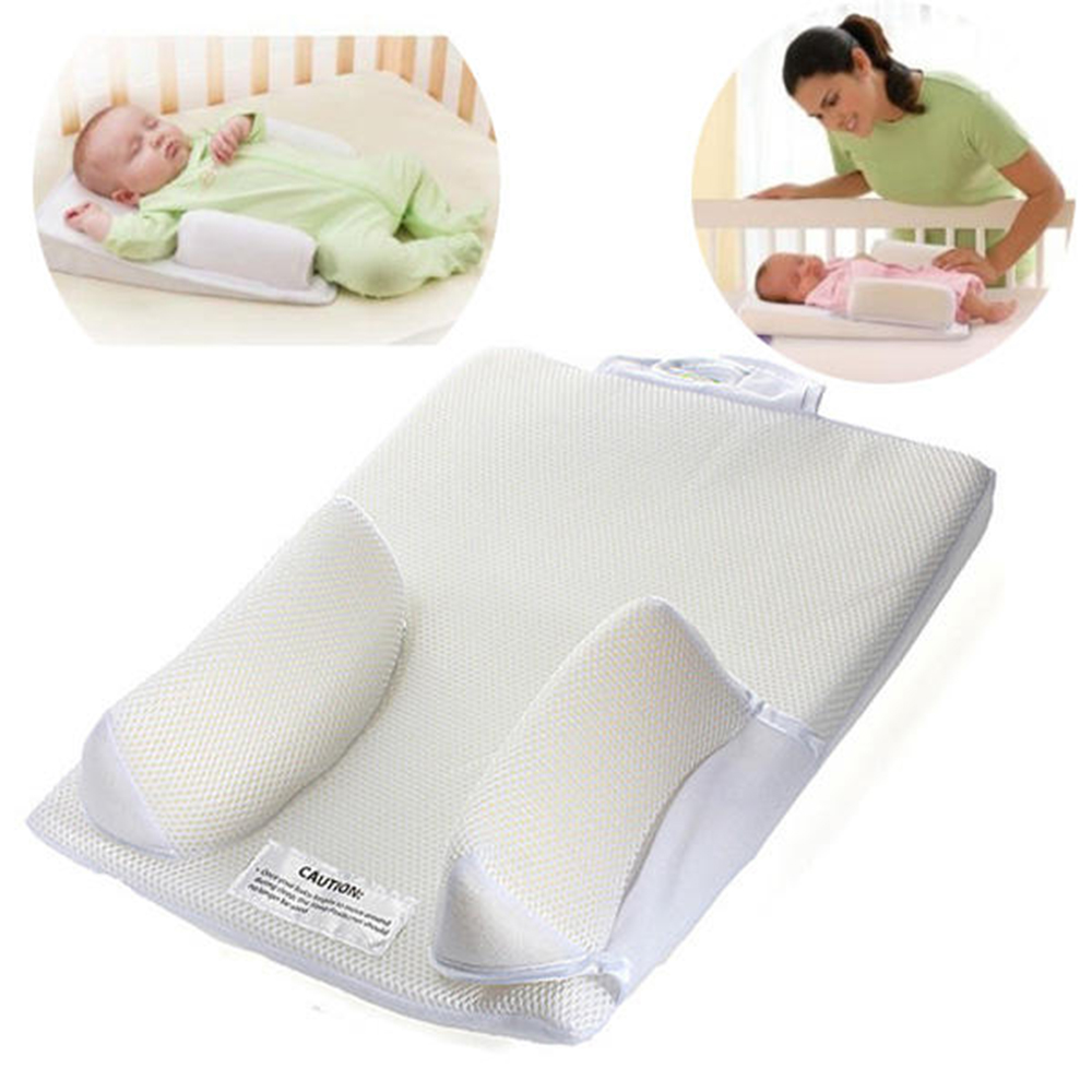 Baby Pillow Flat Head Sleep Cushion Infant Protection Shap Anti Roll Cozy Sleep