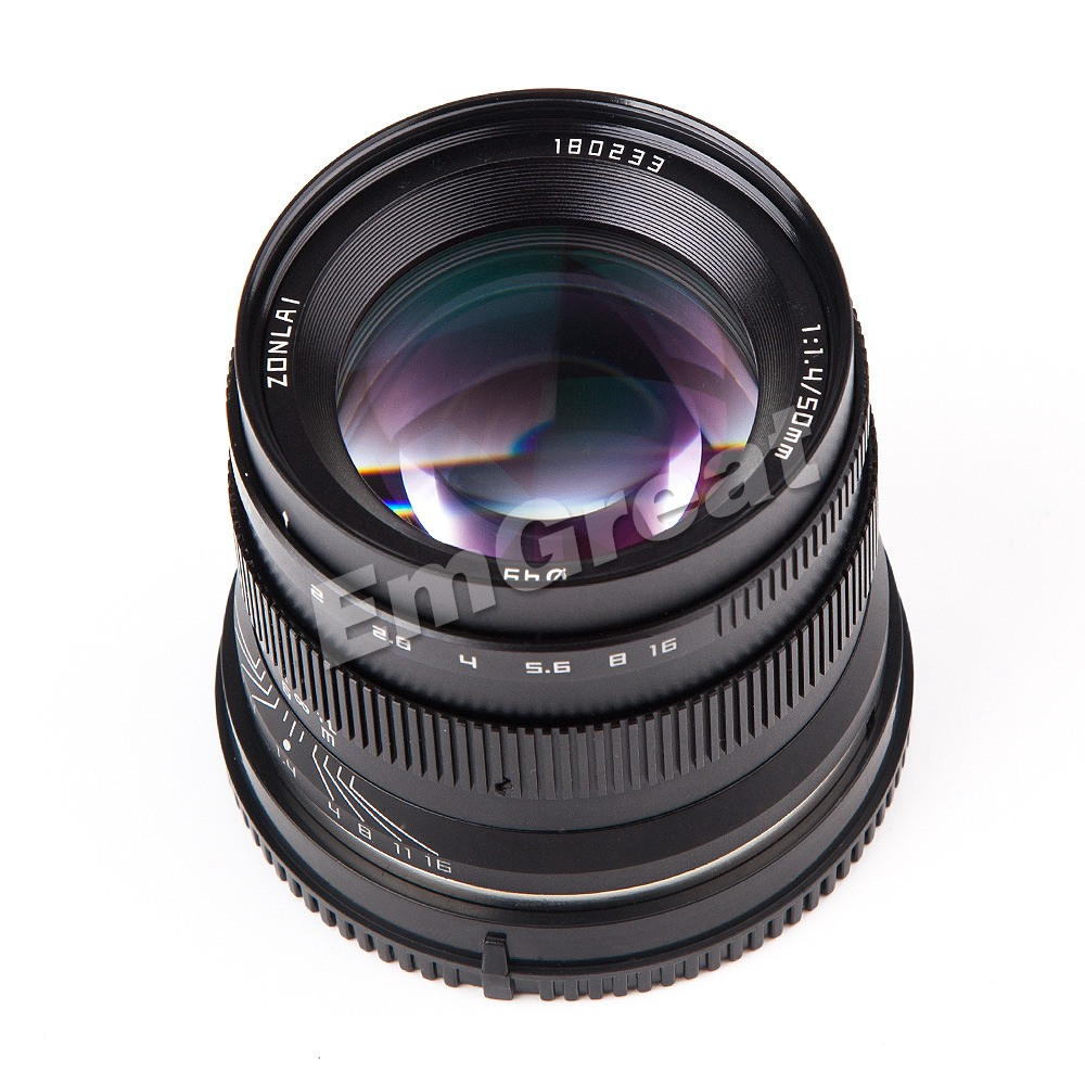 Image 3 - Zonlai 50mm F1.4 Prime Lens Large Aperture Manual Focus Lens 195g for Sony E mount for Fuji Canon EOS M Mount Mirrorless CameraCamera Lens   -