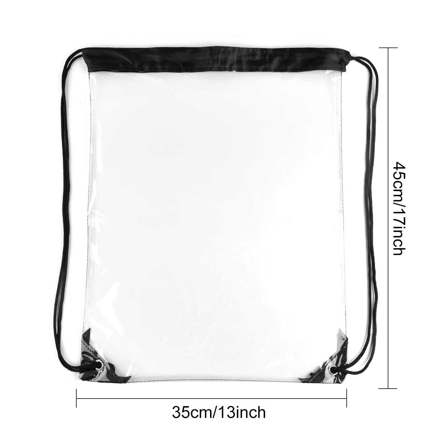 fd490458f543 4 Pack Clear Drawstring Backpack Waterproof String Backpack Cinch Stadium  Bags Traveling Sport Bags
