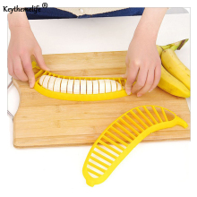 Keythemelife Creative Banana Slicer Cutter Chopper Fruit Salad Cucumber Vegetable Peeler Shredders Kitchen Tool D4