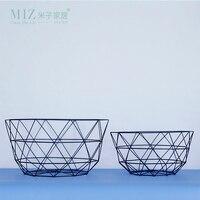 Miz 1 Piece Geometric Bowl Storagae Basket Home Decoration Accessories Interior Decor Fruit Container 2 Sizes