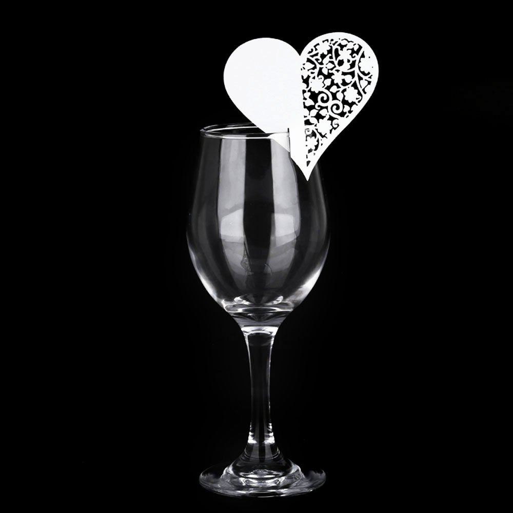 online get cheap mark papers com alibaba group 50pcs festival table mark paper wine glass place card heart shape in hollow design place card