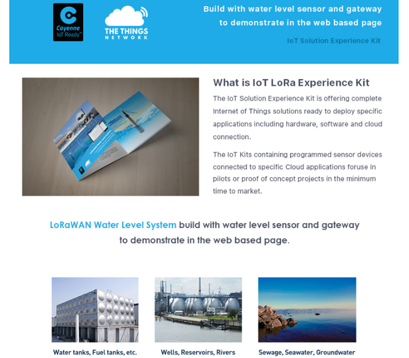 Details about LoRaWAN Water Level System Sensor IoT LoRa Gateway Experience  Kit WisNode LoRa