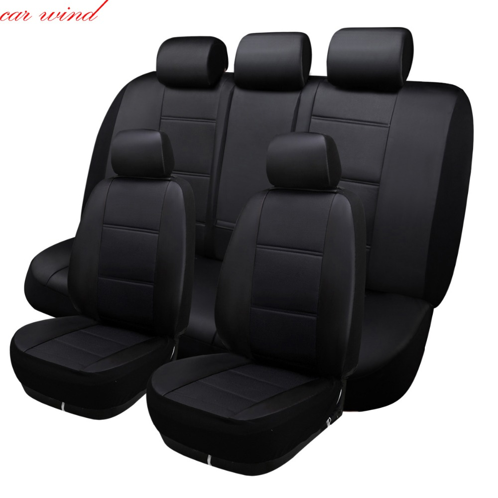 Car Wind Universal car seat cover For ford focus 2 3 S-MAX fiesta kuga 2017 ranger mondeo mk3 car accessories car styling pu leather universal car cushion for ford focus 2 3 s max fiesta kuga ranger mondeo mk3 fusion car seat cover car accessories