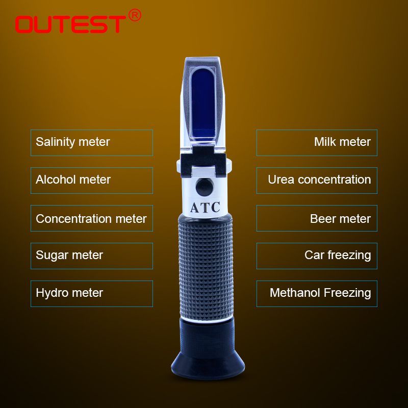 Refractometer Sugar/Honey/Beer Brix Analyzers Alcoholo Meter Auto Refratometro Antifreeze Seawater Salinity Tester Milk Meter atc aluminum refractometer tester glycol antifreeze liquid battery fluid