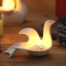 Ceramic Candle Holder Wedding decoration candle stand birthday gift decorative birds mermaid elephant circle style are available