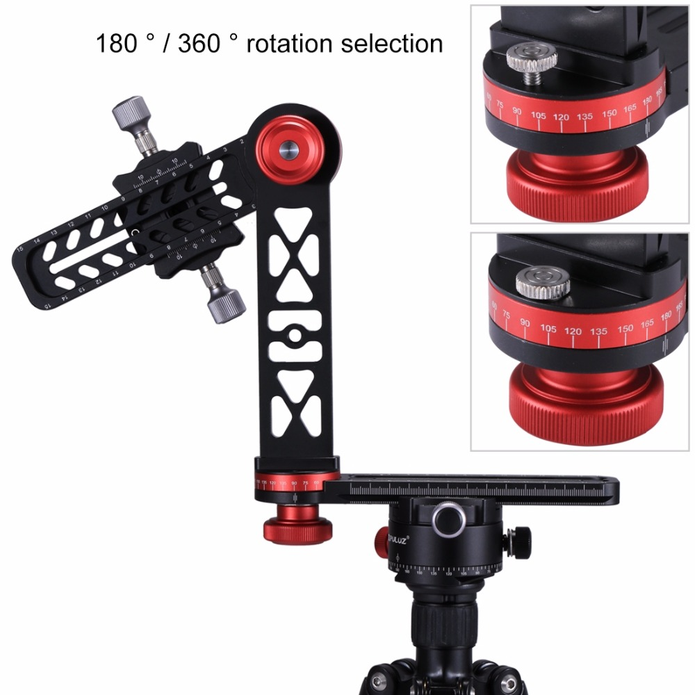 Camera Tripod Head Adapter 720 Degree Panoramic Aluminum Alloy Ball Head Quick Release Plate Kits
