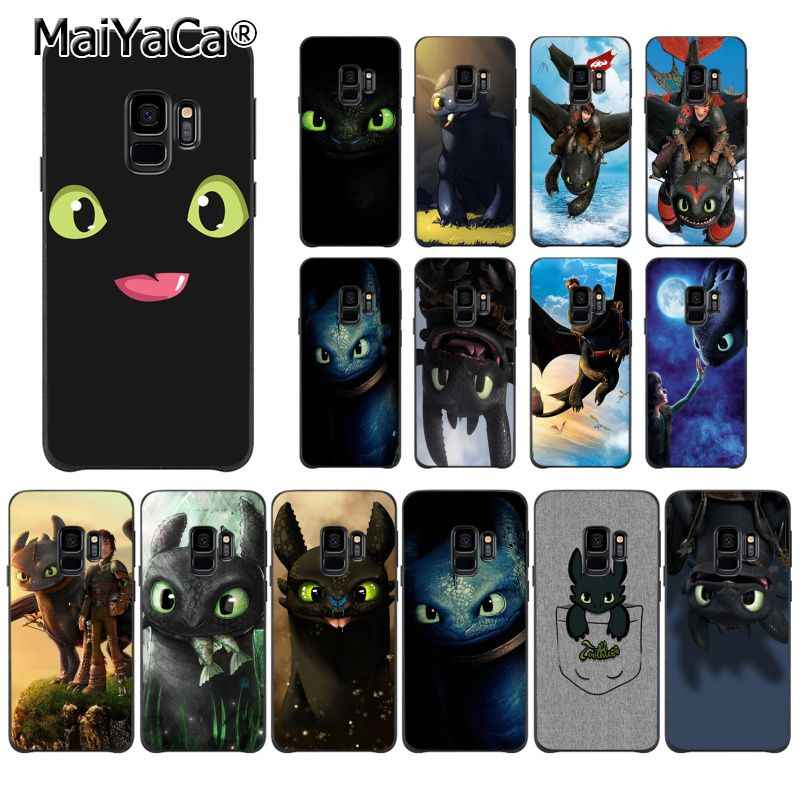 MaiYaCa Toothless Train Your Dragon Coque Shell Phone Case for Samsung Galaxy S9 plus S7 edge S6 S10 Lite S10Plus S10E S8 plus